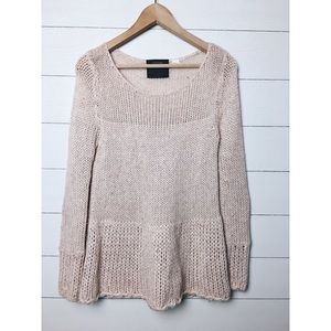 Anthro | Guinevere Blush Pink Chunky Knit Sweater